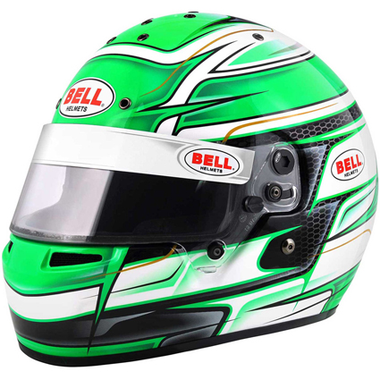 Bell KC7-CMR Full Face Kart Helmet Venom Green