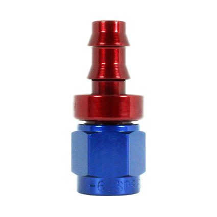 Speedflow -4 JIC  Aluminium Female Push On Fitting for 1/4 Hose