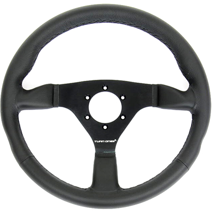 Turn One Racing Steering Wheel Black Leather