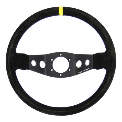 Turn One Corsa Steering Wheel Black Suede