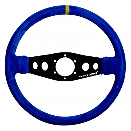 Turn One Corsa Steering Wheel Blue Suede