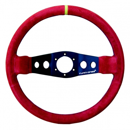 Turn One Corsa Steering Wheel Red Suede
