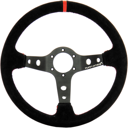 Turn One Rally Steering Wheel Red/Black