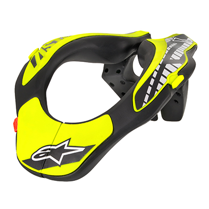 Alpinestars Youth Neck Support in Black/Yellow Fluro