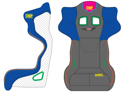 OMP HRC ONE ART Carbon Seat