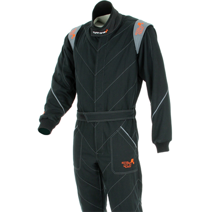Turn One V-Start Race Suit Black/Grey