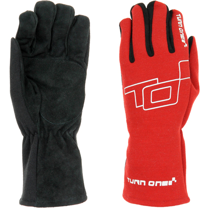 Turn One Basic Race Gloves Red