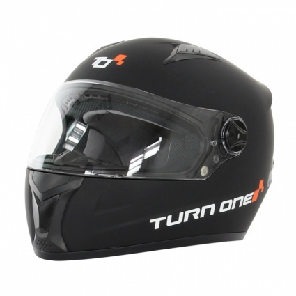 Turn One Full Face Karting Helmet Black