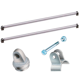 OMP Universal Bolt-In Door Bar Kit