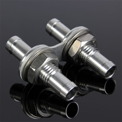 Rallynuts Twin 1/2'' to 1/2'' Push-On Male-Male Bulkhead Adaptor