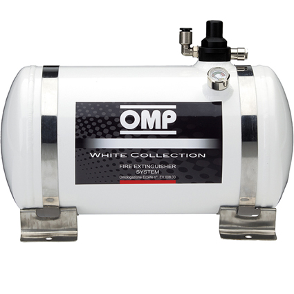 OMP White Collection Electrical Fire Extinguisher System 4.25 Litre