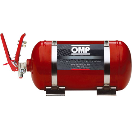 OMP Black Collection Mechanical Fire Extinguisher System 4.25 Litre