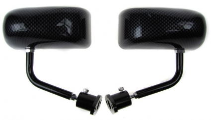 Motamec Formula 02 Wing Mirrors - Carbon Look