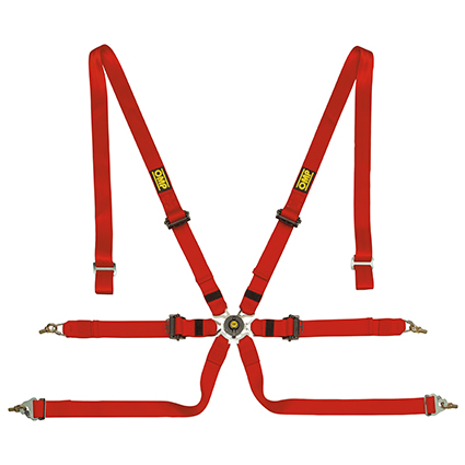OMP 0202 HSL - Saloon Pull Down 6 Point Harness