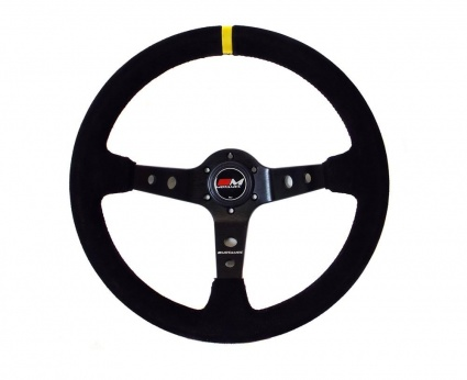 Motamec Deep Dish Suede Rally Steering Wheel 350mm