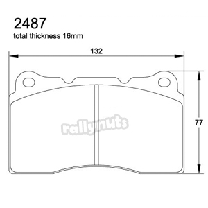 Pagid E2487 RS29 Yellow Brake Pads