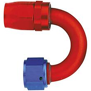 Aeroquip 180˚ Swept Aluminium Fittings Red/Blue