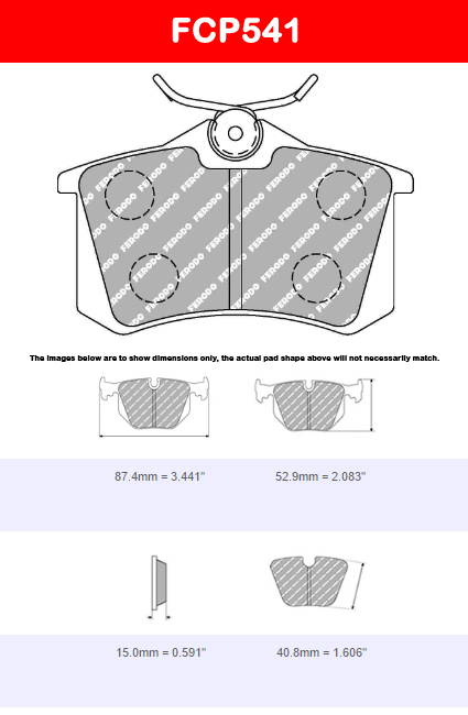 Ferodo FCP535H DS2500 Brake Pads