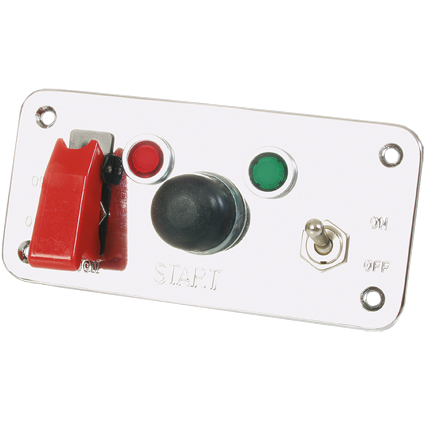 Grayston Push Start Switch Panel c/w 2 Switches and Lamps