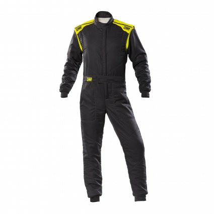 OMP First-S my2020 Race Suit Anthracite/Fluo Yellow