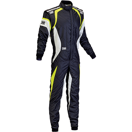 OMP One Evo Race Suit Black/White/Yellow