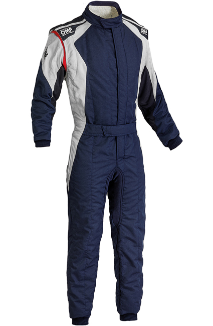 OMP First Evo Race Suit Navy/Silver