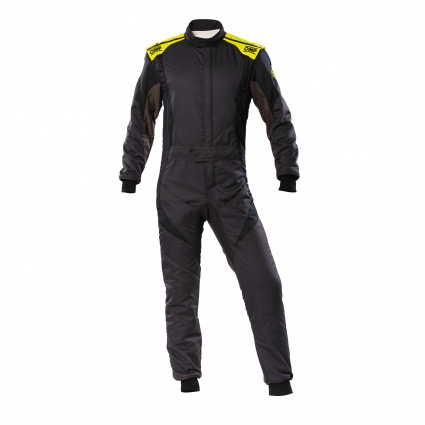 OMP First Evo my2020 Race Suit Anthracite/Black/Fluo Yellow