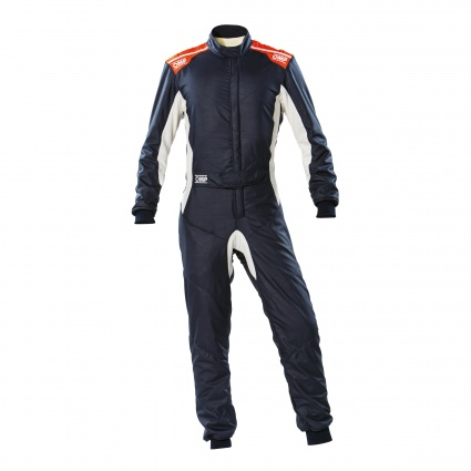 OMP One-S my2020 Race Suit Navy Blue/Fluo Orange
