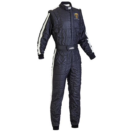 OMP One Vintage Race Suit Lamborghini Design Black