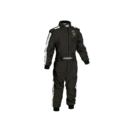 OMP One Vintage Race Suit Lamborghini Design Black Child Sizes