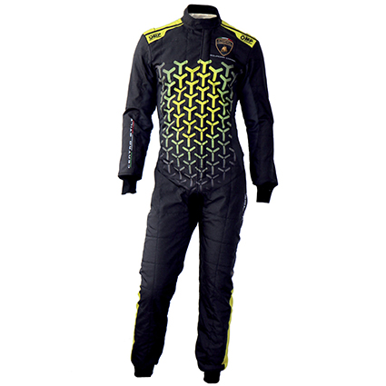 OMP One Art Race Suit Lamborghini Design Speed Edition Black/Yellow