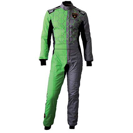 OMP One Art Race Suit Lamborghini Design Racing Edition Grey/Green