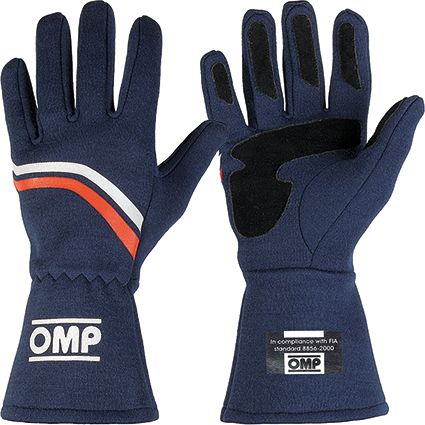 OMP Dijon Race Gloves Navy Blue