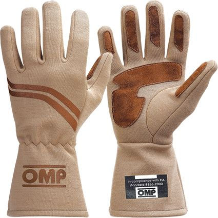 OMP Dijon Race Gloves Light Brown