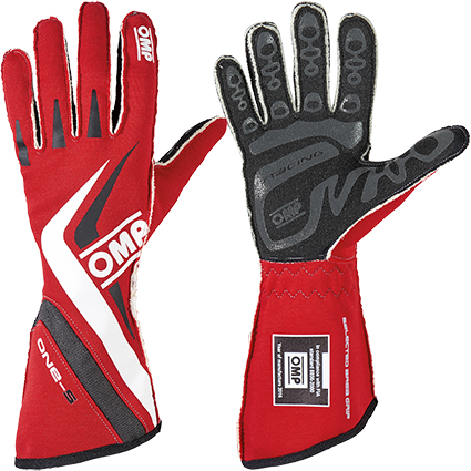 OMP One-S Race Gloves Red/White/Black