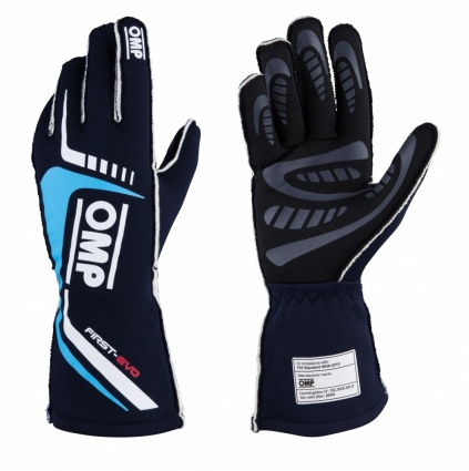 OMP First Evo my2020 Race Gloves Blue/Cyan