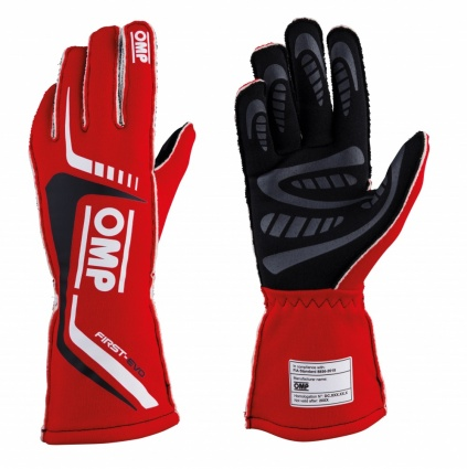 OMP First Evo my2020 Race Gloves Red