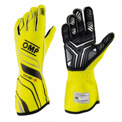 OMP One-S my2020 Race Gloves Fluo Yellow