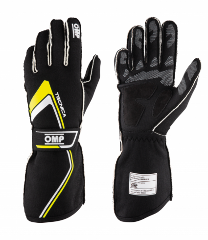 OMP Tecnica Gloves MY2021 Black/Fluro Yellow