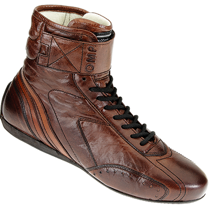 OMP Carrera Race Boots Dark Tan