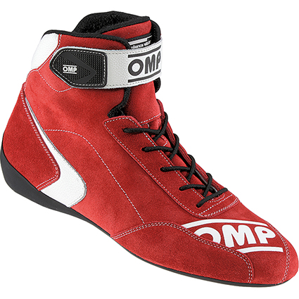 OMP First S Race Shoes Red Suede