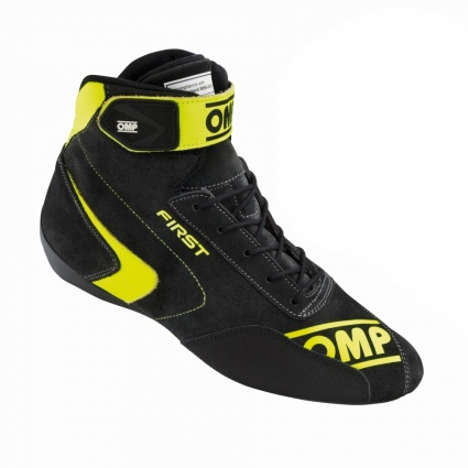 OMP First my2020 Race Shoes Anthracite/Fluo Yellow Suede