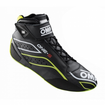 OMP One-S my2020 Race Boots Black/Fluo Yellow