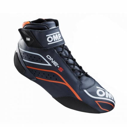 OMP One-S my2020 Race Boots Navy Blue/Fluo Orange
