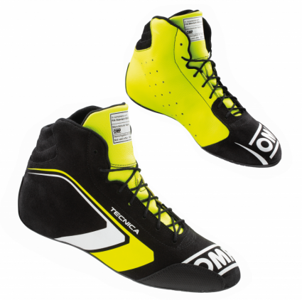 OMP Tecnica Shoes MY2021 Black/Fluro Yellow