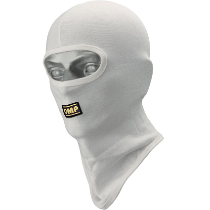OMP Karting Open Face Balaclava White