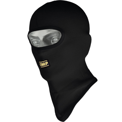 OMP Karting Open Face Balaclava Black