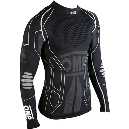 OMP KS Winter-R Long Sleeve Kart Shirt Black