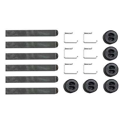 Motamec Universal Exhaust System Mounting Kit - Weld On Bracket Rubber Mount Kit