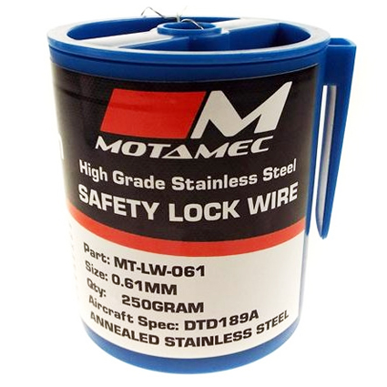 Motamec Stainless Steel Safety Lock Wire 0.61mm